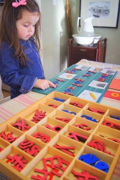"""Making Montessori Ours"": Montessori Pink Series Reading Work"
