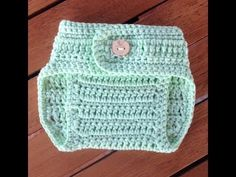 Crochet Diaper Cover for Newborn Babies with subtitles by BerlinCrochet Part 1 - YouTube