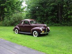 1940 Ford Maroon Coupe - National Winner Vintage Cars, Boats, Ford, Trucks, Shop, Cutaway, Ships, Truck, Classic Cars