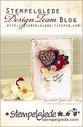 flourish hearts from Stampelglede, many  card samples