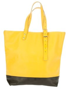 Yellow calf leather 'Martha' shopping bag from Steve Mono.