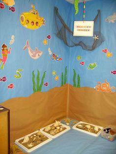 Ocean Themed Corner Along With Sensory Tubs ClassroomClassroom ThemesOcean