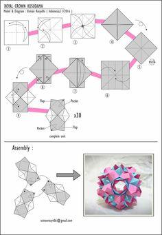 Origami Lampshade, Origami Bag, Origami Paper Art, Origami Folding, Origami Stars, Diy Origami, Origami Flowers, Paper Flowers Diy, Origami Instructions