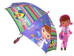 Disney Doc McStuffins Umbrella Girl Weather Character Gift Children Rain School