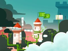 Background's research for Abraca - Beanstalk level - on Behance