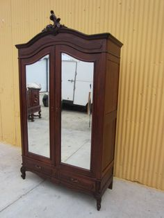 French Antique Armoire Wardrobe Antique Bedroom Furniture from mrbeasleys on Ruby Lane