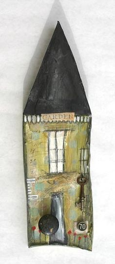Mixed Media Found Object Houses