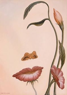 This is just a picture of flowers with a butterfly though they are arranged in a way that creates a face of a woman. If you look at it carefully you will see the face.