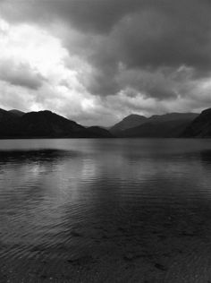 Black and White Lake District White Lake, Lake District, River, Stock Photos, Celestial, Sunset, Black And White, Outdoor, Outdoors