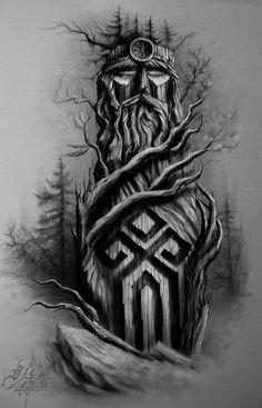 Images of viking tattoos – Tattoo 2020 God Tattoos, Body Art Tattoos, Sleeve Tattoos, Slavic Tattoo, Norse Tattoo, Thor Tattoo, Vikings Tatoo, Tattoo Sketches, Tattoo Drawings