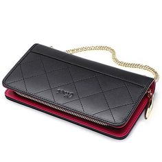 Ladies Quality Large Leather Purse With Rfid Protection For 22 Credit Cards Herren-accessoires And
