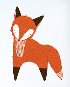 Gingiber Woodland Fox Print. Who doesn't love foxes?! This great print is sure to delight nature fans of any age.  www.treehousekidandcraft.com