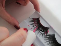 Pin for Later: How to Totally Trick Out Your False Lashes For Halloween Paint Your Lashes