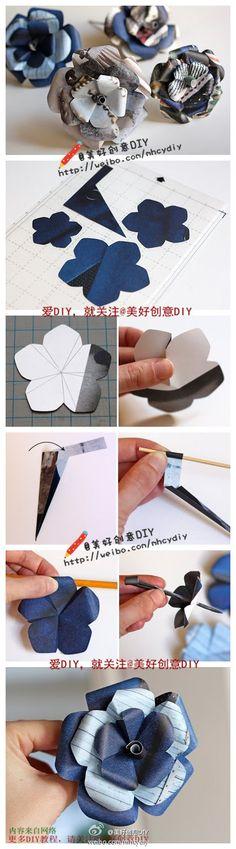 Make a Beautiful Petals Paper Flower