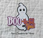 Halloween Bootiful Title  Premade Paper Piecing for scrapbook page album borders