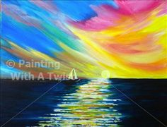 Tonight's class offered at Hattiesburg, MS, Painting with a Twist.