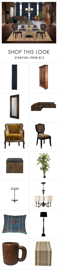 """""""South Side Chicago"""" by elizabeth-pride ❤ liked on Polyvore featuring interior, interiors, interior design, home, home decor, interior decorating, CB2, Hooker Furniture, Hinkley Lighting and Threshold"""