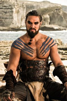 Does it get any better than Khal Drogo's war-painted pecs? We think not.