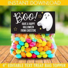 Treat B Ghost - Boo! Halloween School Treats, Halloween Party Supplies, Halloween Party Favors, Halloween Activities, Happy Halloween, Boy Party Favors, Diy Party Supplies, Seasonal Celebration, Holiday Parties