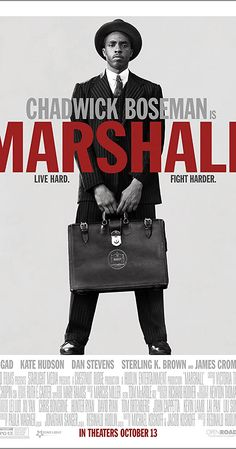 Watch Marshall movie trailer directed by Reginald Hudlin and Chadwick Boseman, Josh Gad, Kate Hudson in lead role. Hd Movies, Movies To Watch, 2017 Movies, Movies Online, Marshall Movie, African American Movies, James Cromwell, Black Panther Chadwick Boseman, Michael Ealy