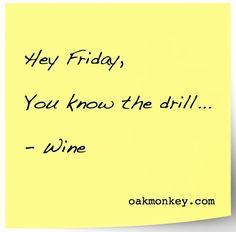 You know the drill...#wine #winehumor #TGIF