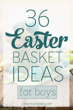 Springtime is just around the corner, which means it's time to think about what to put in all those Easter baskets! These 50 fun and creative Easter basket ideas for boys cost less than $5, and don't include any sugar or chocolate!