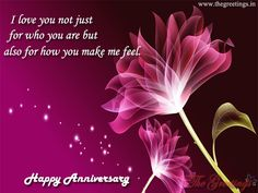 The Greetings - Greet Your Loved One, Lover in Morning Marriage Anniversary Quotes, Happy Anniversary, You Make Me, Love You, Wedding Day, Lovers, Feelings, Happy Brithday, Pi Day Wedding