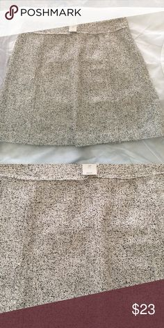 ⚖️FIRM⚖️ NWT LOFT | Textured A-Line Skirt New with tags. Beautiful light grey mixed with flecks of white. Textured skirt with raw edged seam details. LOFT Skirts
