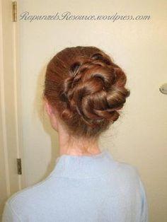 Emma Rope Braid Bun/ a pretty bun