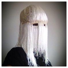 Mask by threadstories #crochet #mask #fibreart #threadstories