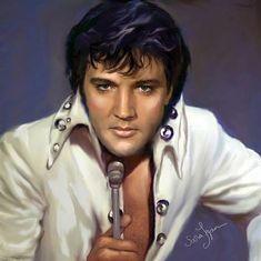 Elvis Presley art work by Sara Lynn Sanders Lisa Marie Presley, Priscilla Presley, Elvis Presley Born, Elvis Presley Pictures, Elvis And Priscilla, Graceland Elvis, Tennessee, Mississippi, Portraits