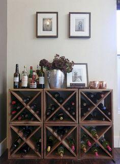 # diy wine rack plans Creative DIY Wine Rack Wall Decor Ideas for Your Home, Office or Bar Wine Rack Design, Palette Deco, Diy Home Decor Rustic, Tuscan Decor, Wine Rack Wall, Wine Wall, Ikea Wine Rack, Wood Wine Racks, Wine Collection
