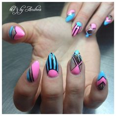 Abstract nails tiPz by Andrea Medicine Hat Alberta Canada