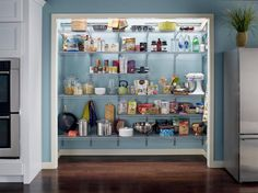 How I Transformed a Coat Closet into a Pantry Kitchen pantries