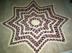 Free Crochet 8 Pointed Round Ripple Pattern.