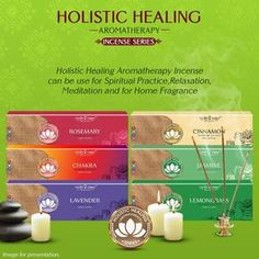 Holistic Healing Aromatherapy Incense Sticks Series buy online, online shop for agarbatti sticks, incense sticks supplier in USA/UK/Europe, agarbatti sticks from India. Food Packaging Design, Incense Sticks, Spiritual Practices, Holistic Healing, Lemon Grass, Smudging, Aromatherapy, Chakra, Meditation