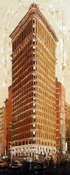 """NEW YORK 2"" By Socrates Rizquez - Acrylics on panel. www.socrates-art.es"