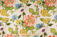 Audette in Sherbet Printed Cotton Drapery Fabric by Mill Creek $9.95 per yard