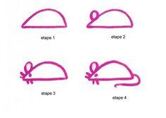 Apprendre à dessiner Une souris - Dessins simples