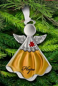 Autism Awareness Angel Ornament ($12.95) at The Autism Site