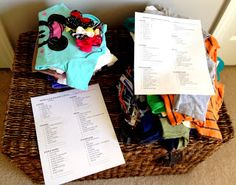 packing lists for families heading to Disneyland