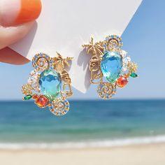 Ear Jewelry, Resin Jewelry, Cute Jewelry, Crystal Jewelry, Jewelery, Jewelry Accessories, Jewelry Design, Korean Jewelry, Fantasy Jewelry