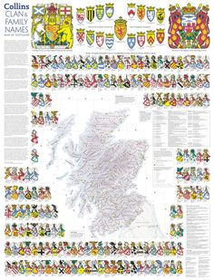 Map Scotland Scottish Clan Names | spellings of ancient Scottish names often bear little resemblance to