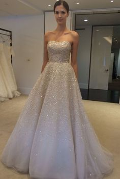 Sweetheart Neckline Gold Grant Wedding Dress Sparkle Dresses Gown Dhgate