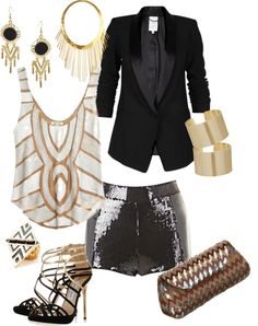 "Shoes and the blazer! ""Vegas Bound"" by hotrodrachel on Polyvore"