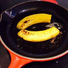 Salted Fried Banana - coconut oil, banana, salt and cinnamon...