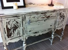 Antique Shabby Chic Side Board Buffett by Reclaimedcl on Etsy, $695.00