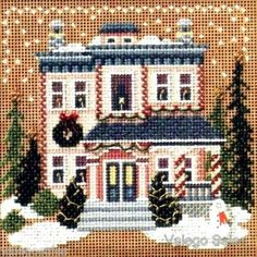 Mill Hill Buttons Beads Counted #crossstitch VICTORIAN HOUSE #needlecraft #DIY #giftideas #decor