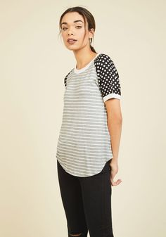 Flatter Up! T-Shirt in Print Mix, #ModCloth