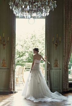 blue by enzoani floro wedding dress one shoulder strap